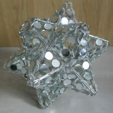 Very Pretty Mirrored Star Pendant Ceiling Light Lamp Shade Cover 20cm