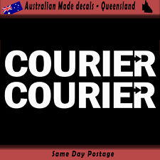 Vinyl Car Sticker - Courier sticker arrowed - Set of 2  delivery Freight