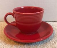 Fiestaware Scarlet Red Teacup & Saucer Tea Coffee Cup