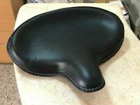 Genuine Leather HARLEY WLA WLC VL UL EL WL KNUCKLEHEAD SOLO SEAT FLATHEAD BLACK