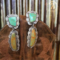 Trendy 925 Silver Turquoise Women Party Jewelry Dangle Anniversary Drop Earrings