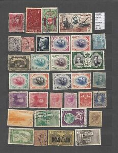 LOT  STAMPS  MONACO  USED (L29186)