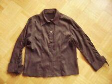 @Villaggio@ Blouse Dark Brown Suede Look Size M gr. 38/40 Lacing