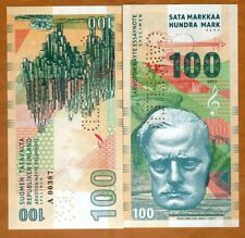 Finland, 100 Markkaa, 2017, Private Issue > Jean Sibelius > Rare Cancelled Error