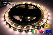 1m Indoor Flexible LED Warm White USB Powered Smart TV PC Back Rear Light Strip