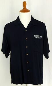 Penn State Nittany Lions Shirt L Large Button Down Navy Rayon