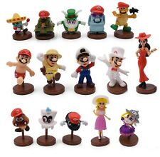 15 Piece Figures Set Super mario Odyssey Peach Gumba and More 1 3/16in - 2