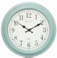 Duck Egg Blue Station Traditional Wall Clock 40cm Vintage Kitchen Shabby Chic