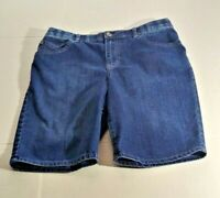 Gloria Vanderbilt Bermuda Long Shorts Sz 10P Blue Denim Embellished Back Pockets