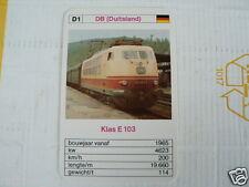 24 EK LOKS D1 DB GERMANY KLAS E 103 TRAIN TREIN KWARTET KAART,