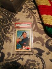 1989 topps TIFFANY psa 10 mark lemke rc braves rookie