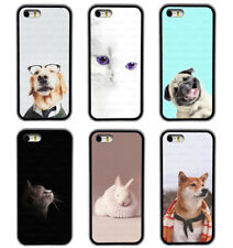Dog Cat Rabbit Cute Animal  Rubber Phone Case Cover For iPhone / Samsung