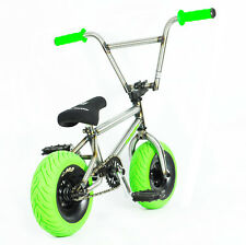 MINI BMX MINI ROCKER Trick Bike Dirt Monkey Bike Stunt Bike 3 Piece Cranks GREEN