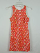 GAP Sleeveless Sheath Geometry Orange and White dress Size 0