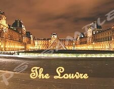 France - Paris - THE LOUVRE - Travel Souvenir Flexible Fridge Magnet