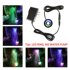 12 LEDs Fountain Ring Lights Auto Colored Changing for Submersible Water Pump