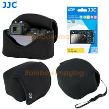 JJC Black Pouch Case Bag for Nikon Z50 &16-50mm lens+Hood, LCD Screen Protector