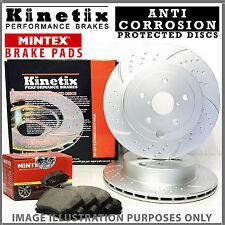 Pour vw golf MK7 2.0 gtd 184HP -16 front alvéolé rainuré disques de frein patins 312mm