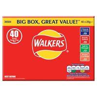 Walkers Crisps Variety Box - 40 x 25g Bags