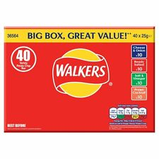 Walkers Chips Vielfalts-Box - 40 X 25g Bags