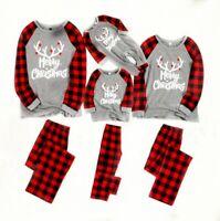 Parent Child Pajamas Set Christmas Sleepwear Matching Family Outfit Tops Pants