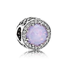 NEW!Authentic Pandora Radiant Hearts Opalescent Pink Crystal Charm #791725NOP$80