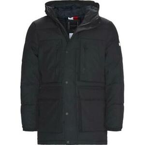 Tommy Hilfiger Heavy Canvas Parka Coat Large rrp £330 Black