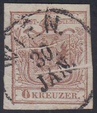 Österreich 1850 Mi. Nr. 4 X Papierfalten selten gestempelt tadelos Befund BPP