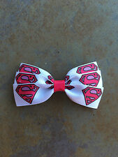 Superman Supergirl Bow with Alligator Clip