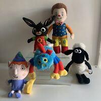 Cbeebies Kids Toy Bundle Mr Tumble Bing Shaun The Sheep Ben Elf Woolly Job Lot