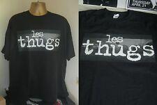 LES THUGS- CLASSIC FRENCH PUNK  PRINT T SHIRT- BLACK-  LARGE