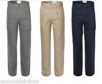 pantalone tasconi uomo BLU GRIGIO BEIGE pantaloni c tasche laterali cargo A88001