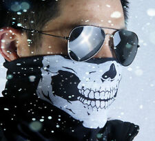 BRAGA MODA DISEÑO SKULL CARA DE CALAVERA BLANCA PARA MOTO BICI RUNNING SKI SNOW