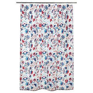IKEA Kratten Shower Curtain White Floral Multicolour Water Repellent 180x200cm