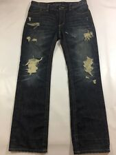 Affliction Mens Blake Relaxed Straight Ripped Jeans Used Mint Condition W34 L44
