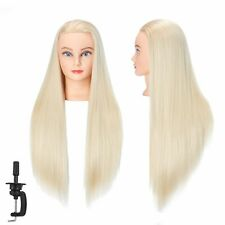 "Hairginkgo Mannequin Head 26""-28"" Super Long Synthetic Fiber Hair Manikin Head"