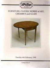 Furniture, Clocks, Works of Art, Ceramics and Glass, Phillips