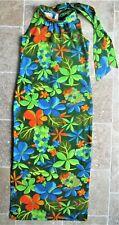 Vintage 60s? Royal Hawaiian M Cotton Sleeveless Long Dress Womens Floral