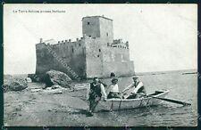 Roma Nettuno Torre Astura Barca cartolina KF2403