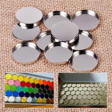 10pcs 26MM Empty Round Tin Pans Eyeshadow Palette Powder Pot Storage Magnetic