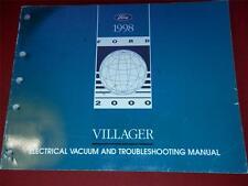 1998 Villager van Electrical, Vacuum Troubleshooting Manual Wiring Diagrams EVTM