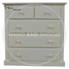 HAND MADE DEWSBURY FURNITURE 2+3  DRAWER CHEST IVORY(ASSEMBLED)