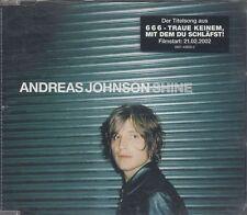 Andreas Johnson - Shine ° PROMO Maxi-Single-CD von 2002 ° WIE NEU °
