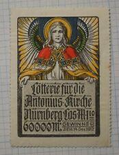 St Anthony Church Lottery Gewinne Nurnberg Germany Angel wings ad poster stamp