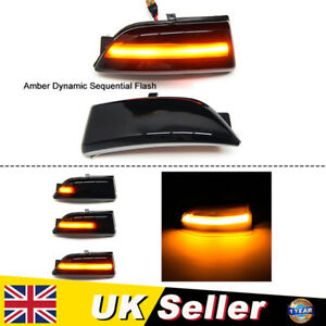 2X Wing Mirror LED Turn Signal Indicators Lights Lamp For Ford Everest Ranger T6