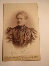 Gmunden - 1895 - junge Frau - Name ? - Portrait / CDV