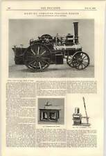 1900 8 Hp Compound Traction Engine Bradbury Saw Guard