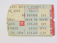 CONCERT TICKET STUB - ROLLING STONES with Kansas and Peter Tosh Cleveland 1978