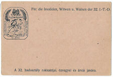 Hungary Austria 1916 military illustrated for war invalids postcard