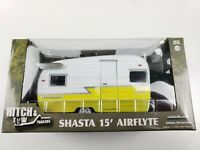 1/24 Scale Hitch + Tow Series 1 White & Yellow Shasta 15' Airflyte Diecast Model